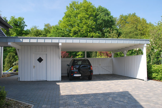 carport holz mit gerateraum. Black Bedroom Furniture Sets. Home Design Ideas