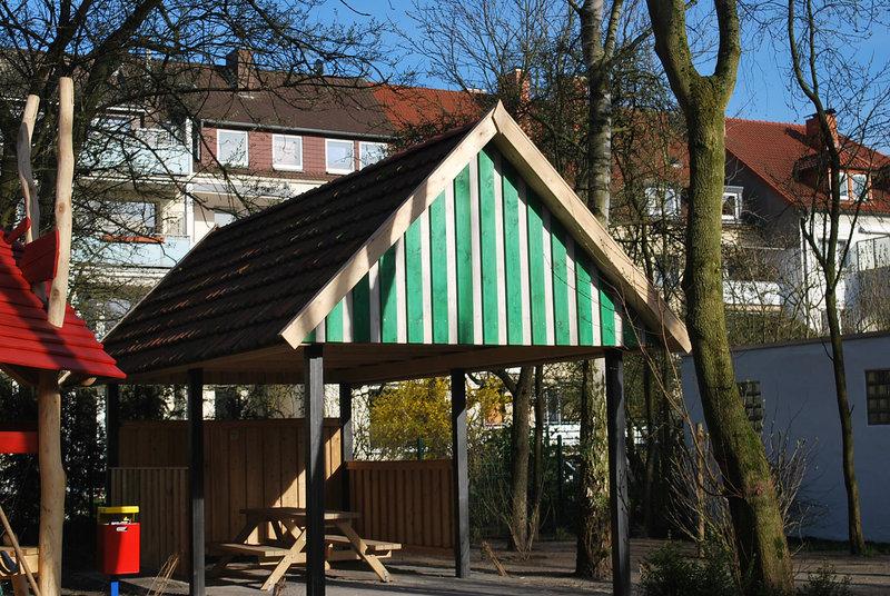 Schutzhütte für Naturspielplatz