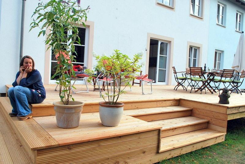 Terrassendeck nach Kundenmaßen angefertigt
