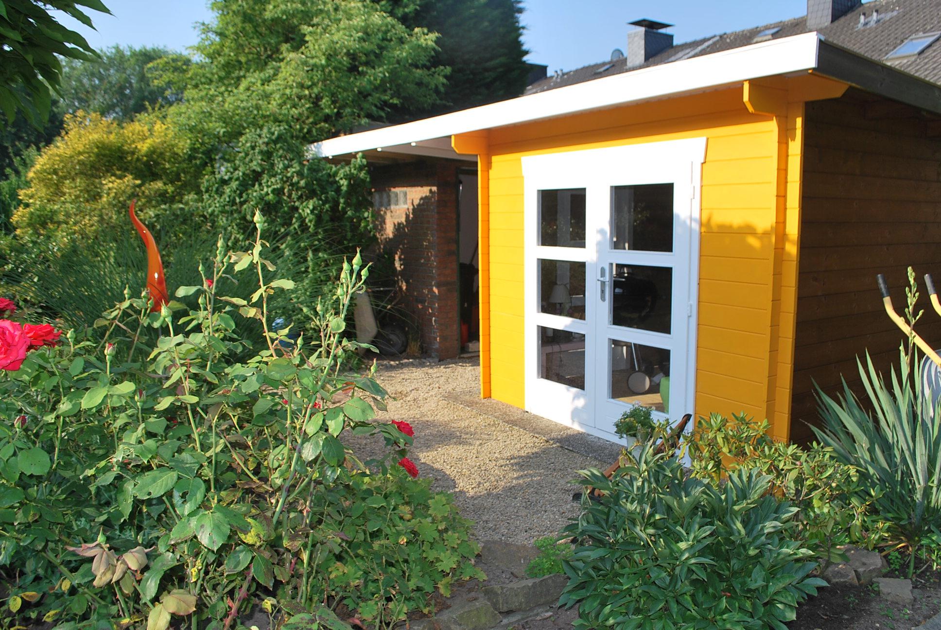 Gartenhaus nach Maß aus 40 x 96 mm Bohlen
