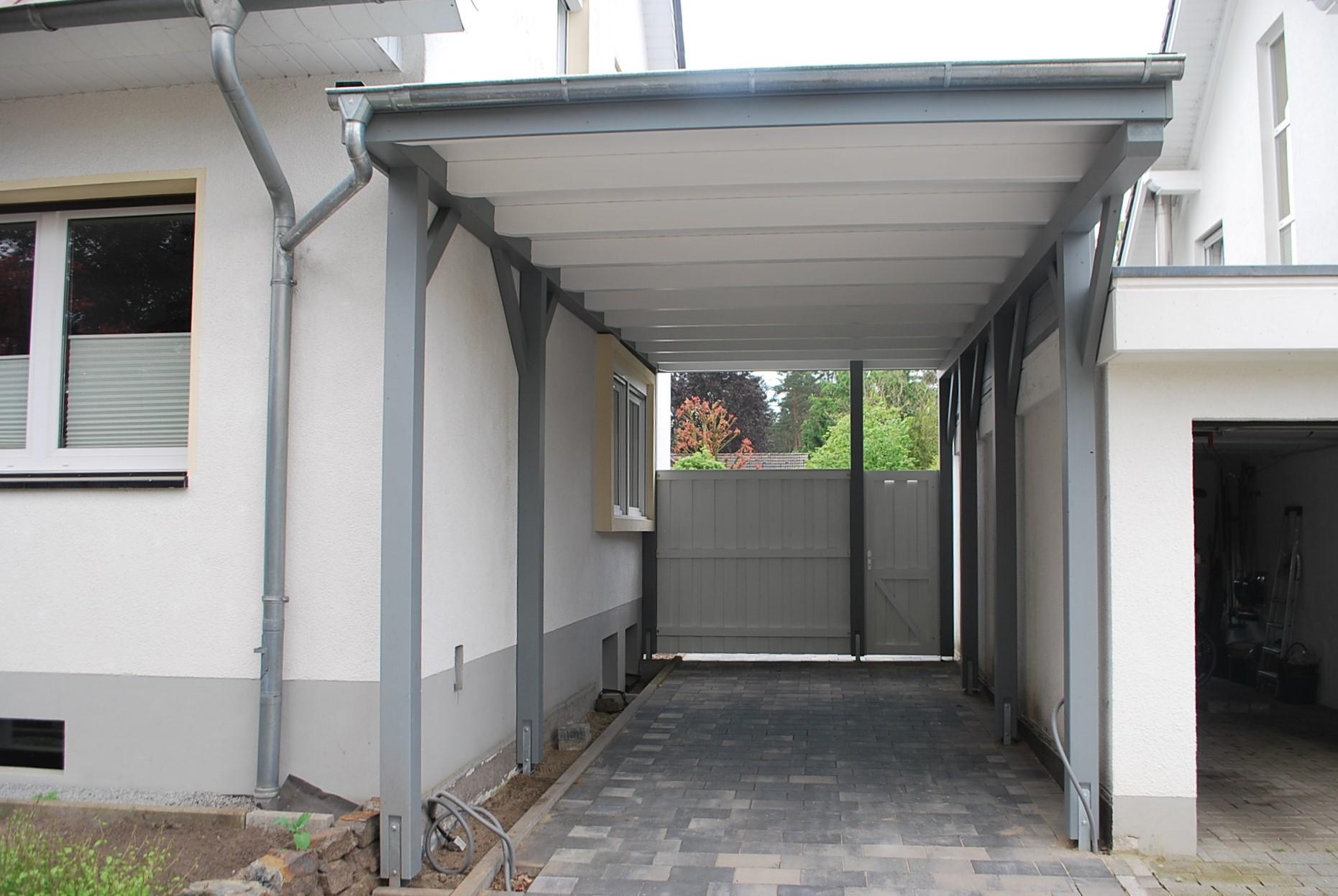 Hohes Carport für Wohnmobile geeignet